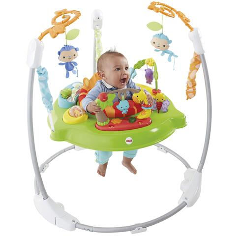 SALTADOR BEBE FISHER PRICE ANIMALITOS DE LA SELVA