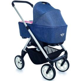 Cochecito de paseo Easy Walker New Mini Stroller Jack Denim chais silver rueda blanca