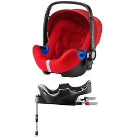 PACK SILLA DE COCHE RÖMER BABY SAFE I-SIZE BASE ISOFIX FLAME RED