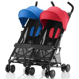SILLA DE PASEO BRITAX HOLIDAY DOUBLE Red-Blue